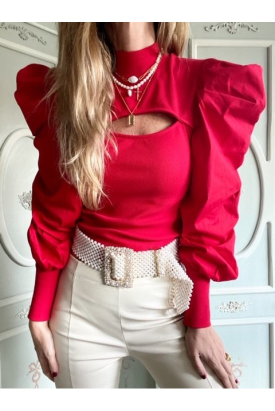 TOP MARBELLA RED